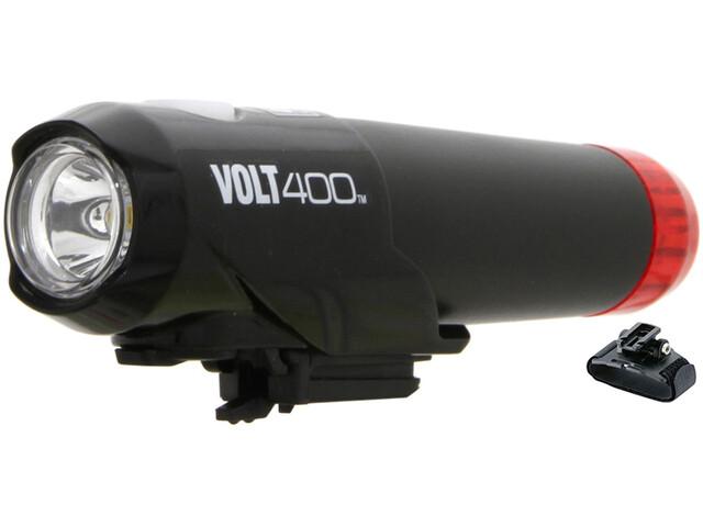CatEye HL-EL462RC-H Lampada da casco Volt 400 Duplex, nero